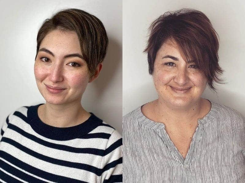 pixie cut for round face