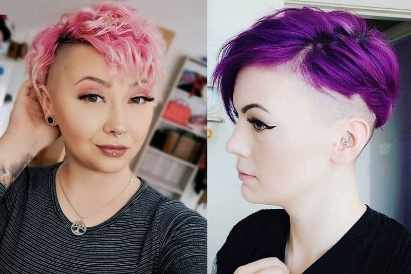 pixie cut with shaved sides