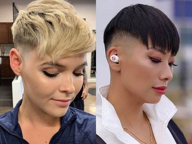 pixie haircut with fade